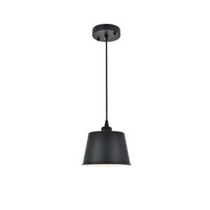 Nota Black Eight-Inch One-Light Mini Pendant