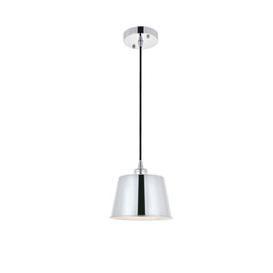 Nota Chrome Eight-Inch One-Light Mini Pendant