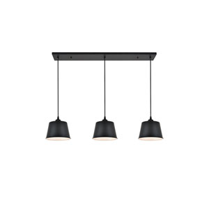 Nota Black Three-Light Pendant