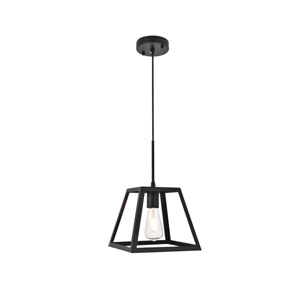 Resolute Black Nine-Inch One-Light Mini Pendant