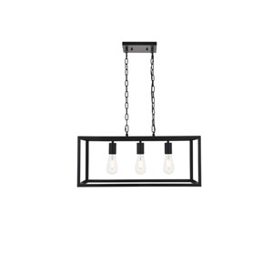 Resolute Black Three-Light Island Pendant