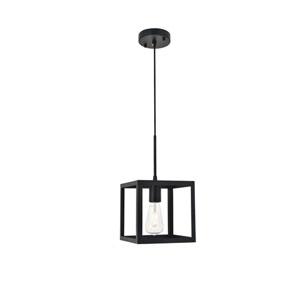 Resolute Black Eight-Inch One-Light Mini Pendant