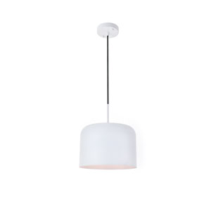 Etude White 11-Inch One-Light Pendant