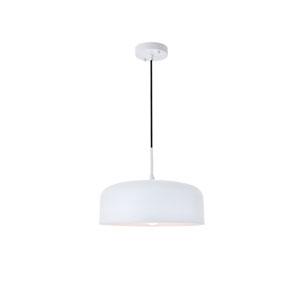 Etude White 14-Inch One-Light Pendant