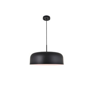 Etude Black 19-Inch One-Light Pendant