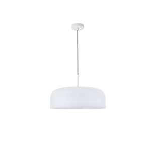 Etude White 19-Inch One-Light Pendant