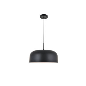 Etude Black 17-Inch One-Light Pendant