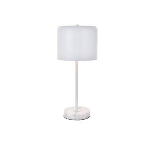Exemplar White Nine-Inch One-Light Table Lamp