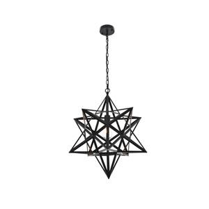 Nocturne Black 24-Inch One-Light Pendant