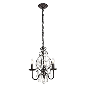 Blaise Oil Rubbed Bronze Three-Light Pendant