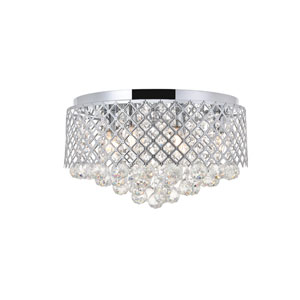 Tully Chrome 18-Inch Six-Light Flush Mount