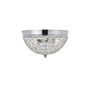 Taye Chrome 10-Inch Two-Light Flush Mount