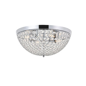 Taye Chrome 18-Inch Four-Light Flush Mount