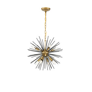 Timber Brass and Black 20-Inch Eight-Light Pendant