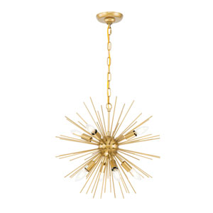 Timber Brass 20-Inch Eight-Light Pendant