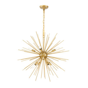 Timber Brass 30-Inch Eight-Light Pendant