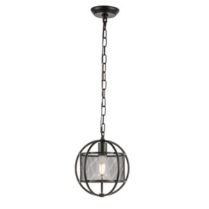 Zeke Black 10-Inch One-Light Pendant