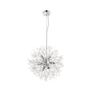 Flores Chrome 20-Inch Eight-Light Pendant