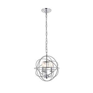 Wallace Chrome 12-Inch Three-Light Pendant