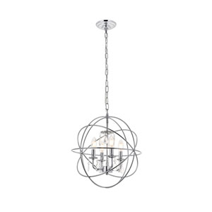 Wallace Chrome 16-Inch Four-Light Pendant