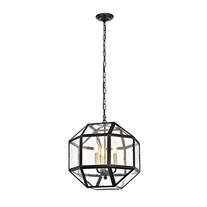 Caro Black Three-Light Pendant