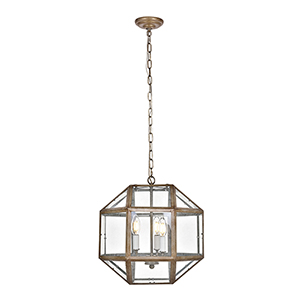 Caro Vintage Sliver Three-Light Pendant