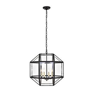Caro Black Four-Light Pendant