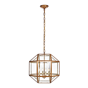 Caro Vintage Gold Four-Light Pendant