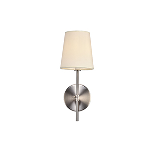 Mel Burnished Nickel One-Light Wall Sconce