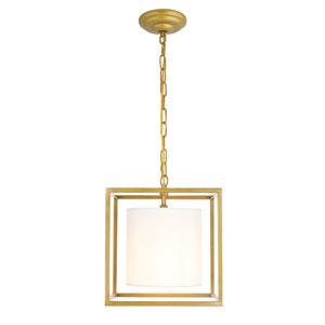 Mirin Brass 12-Inch One-Light Pendant