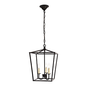 Maddox Black Three-Light Pendant