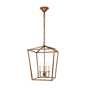 Maddox Vintage Gold Four-Light Pendant