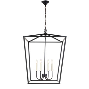 Maddox Black Six-Light Pendant