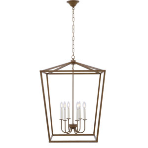 Maddox Vintage Gold Six-Light Pendant