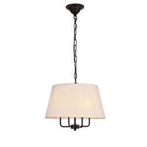 Maple Black Four-Light Pendant