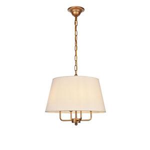 Maple Gold Four-Light Pendant