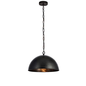 Merce Vintage Black 15-Inch One-Light Pendant