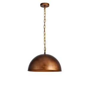 Merce Manual Brass 15-Inch One-Light Pendant