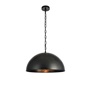 Merce Vintage Black 20-Inch One-Light Pendant
