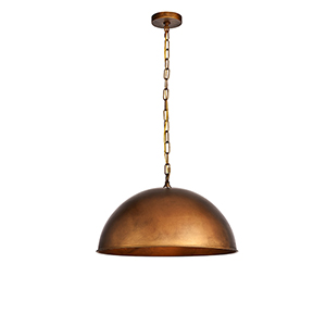 Merce Manual Brass One-Light Pendant