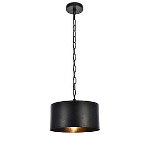 Miro Vintage Black One-Light Pendant