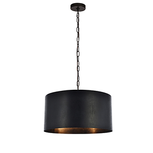 Miro Vintage Black Three-Light Pendant