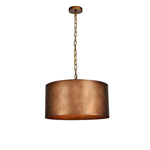 Miro Manual Brass Three-Light Pendant