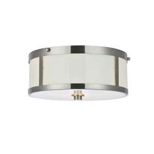 Hadrian Burnished Nickel Two-Light Flush Mount