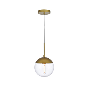 Eclipse Brass One-Light Mini Pendant