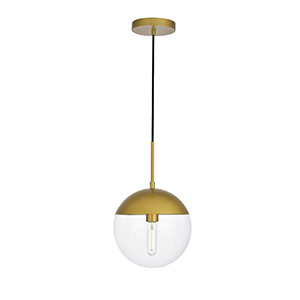 Eclipse Brass 10-Inch One-Light Pendant