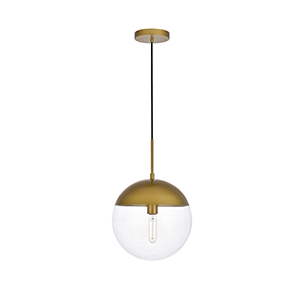 Eclipse Brass 12-Inch One-Light Pendant