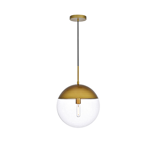 Eclipse Brass 14-Inch One-Light Pendant