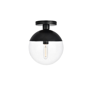 Eclipse Black 10-Inch One-Light Semi-Flush Mount