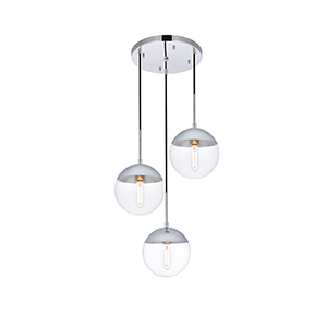 Eclipse Chrome 18-Inch Three-Light Pendant